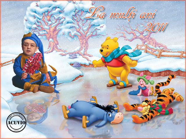 Funny postcard Emil Boc Felicitari Anul Nou