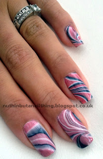 water marble nails marbled nail art