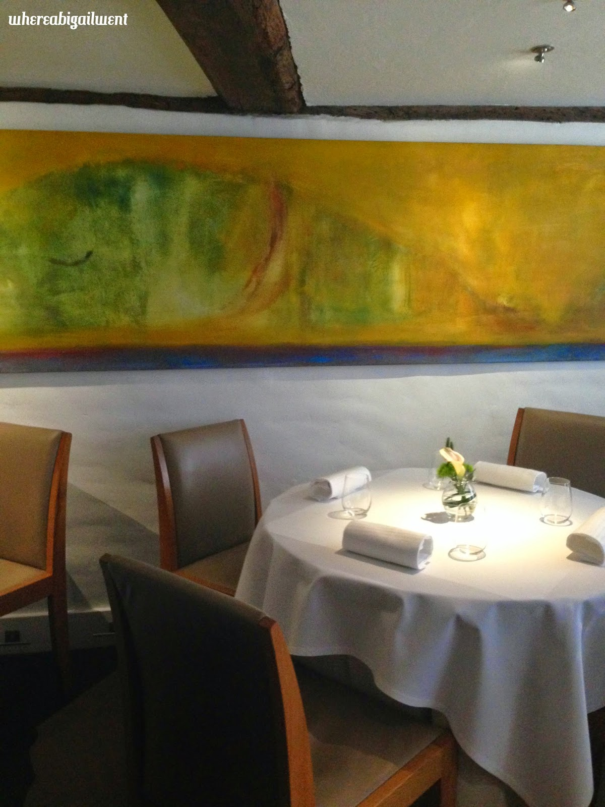 The Fat Duck Restaurant Interior Yellow Painting