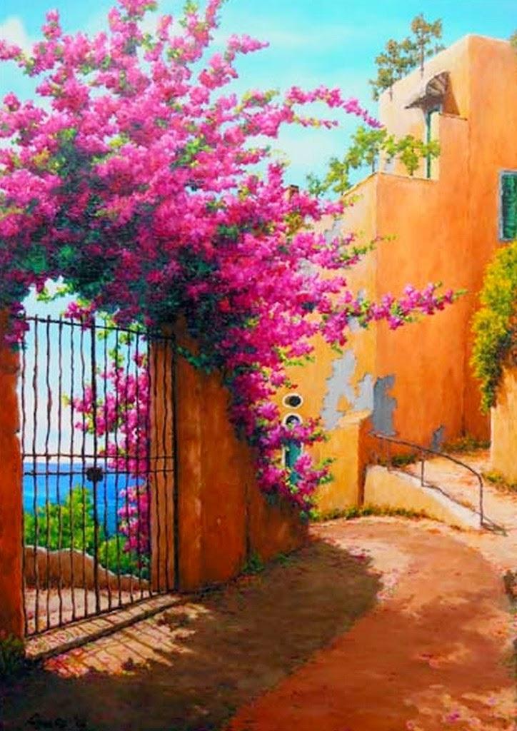 portadas-de-casas-viejas-con-flores