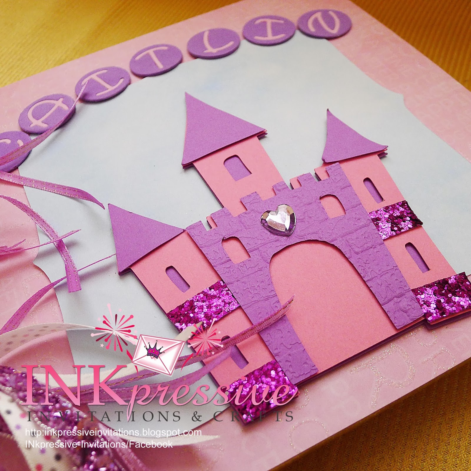 Princess Castle Guest Book Step Card Invitations