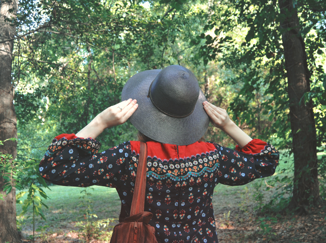 The Flying Clubhouse: The Woods at the Edge of the Meadow // sunhat