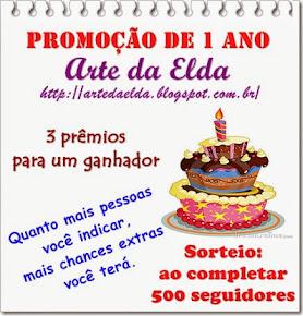 Sorteio no Blog da Elda - 1 Aninho!