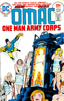 Omac v1 #5 dc bronze age comic book cover art by Jack Kirby
