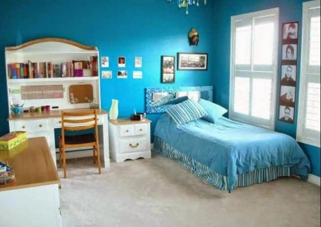 Contoh warna cat kamar tidur minimalis.
