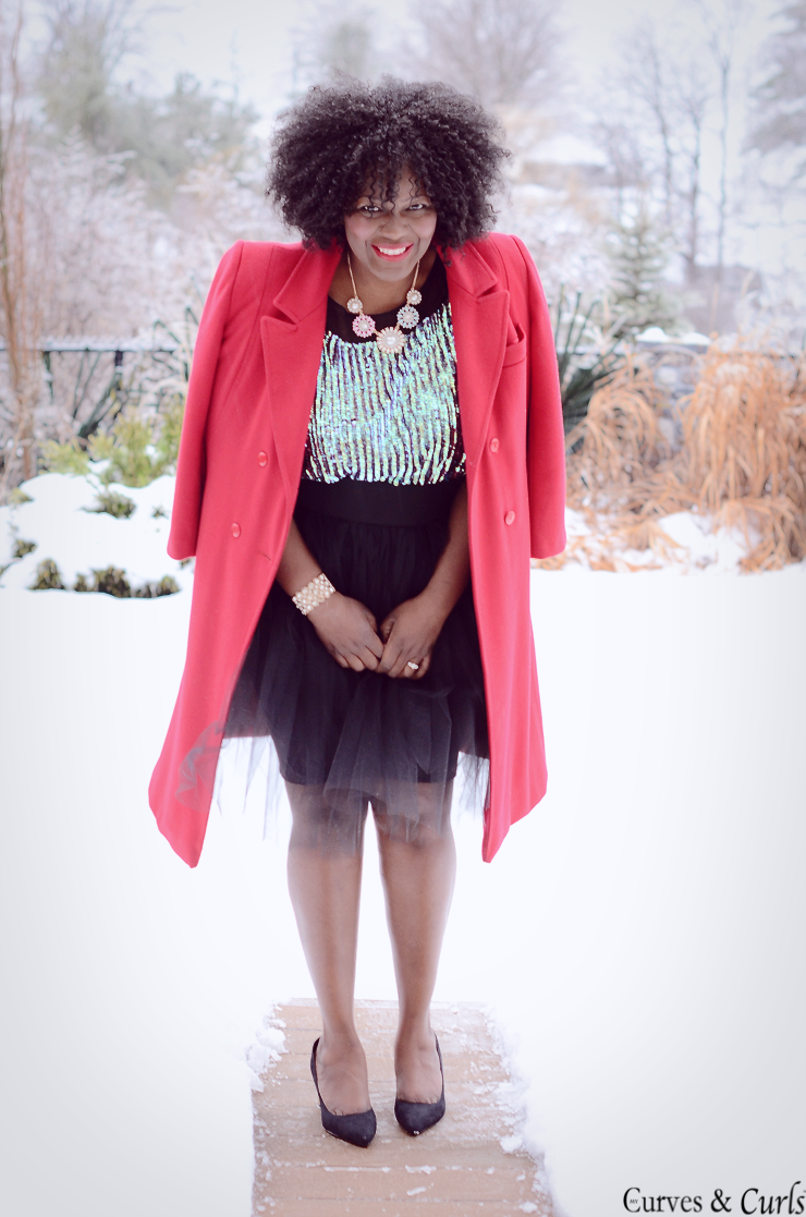 Plus size Diy tulle skirt - NYE outfits inspiration