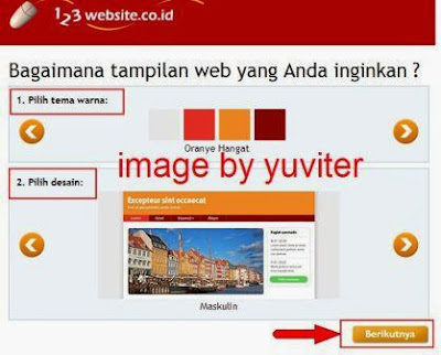 cara membuat blog di 123website