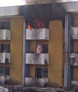 fire oau female hostel