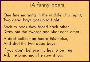 Good Poem Topics For Kids