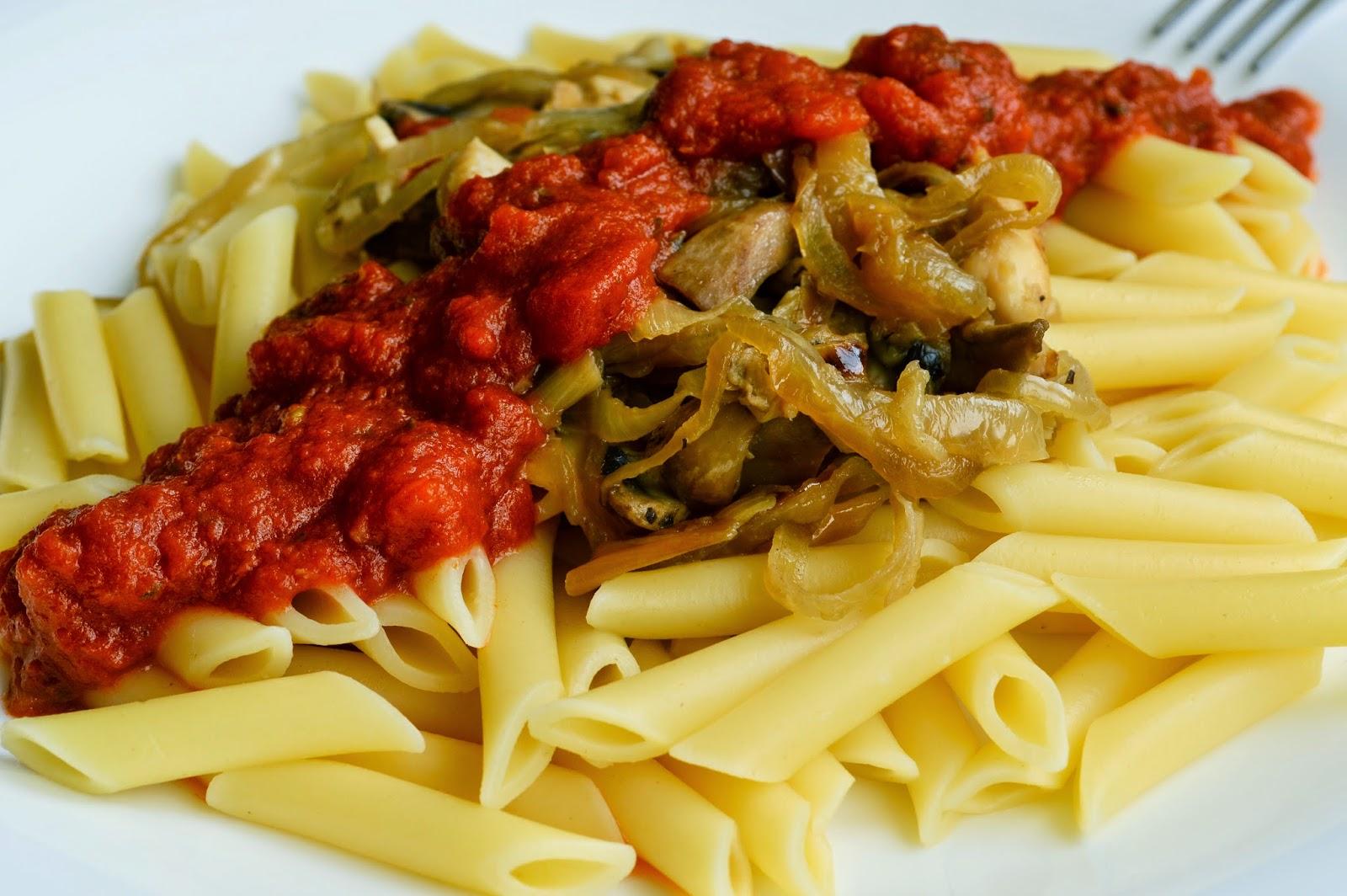 Macarrones Barilla con salsa Basilico