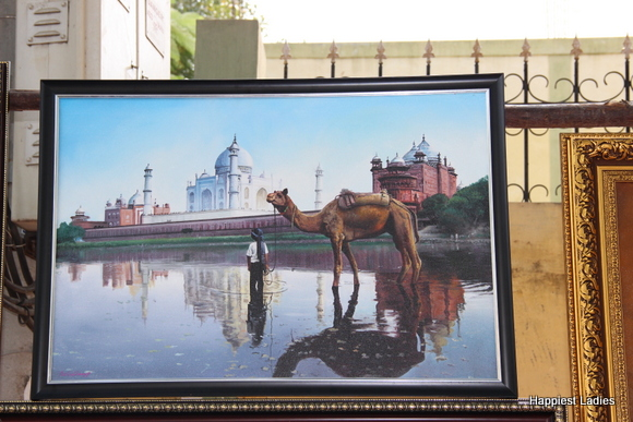 taj mahal oil painting