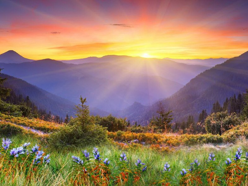 Rasarit de soare la munte