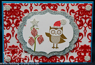 Gorgeous Owl Occasions Card by Stampin' Up! Demonstrator Bekka Prideaux - www.feeling-crafty.co.uk