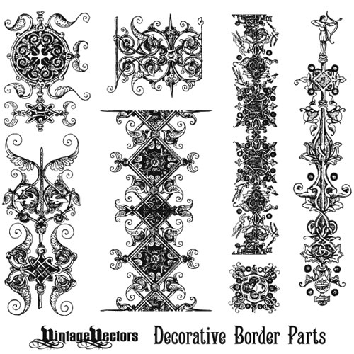 Ornate border border borders ornaments vintage ornaments
