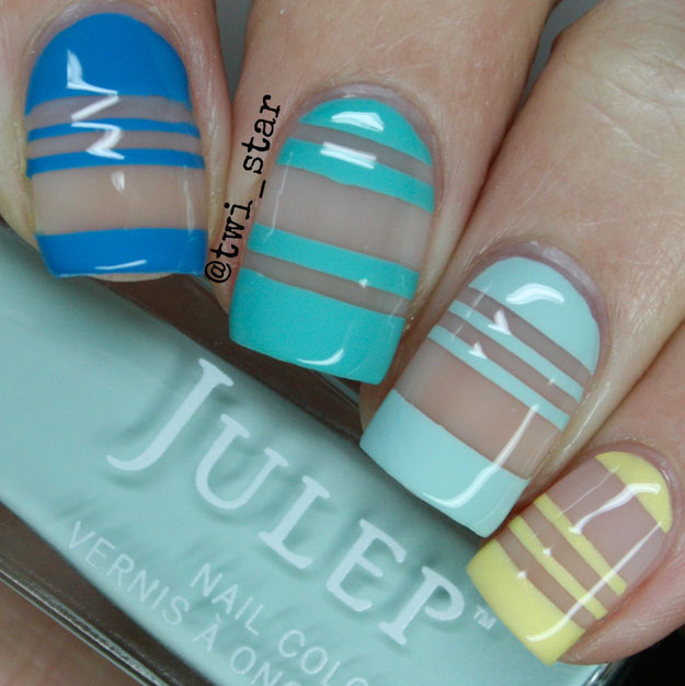 Julep Annie Robin Shelly Leila negative space nail art