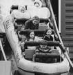 Matka a děti na horské dráze