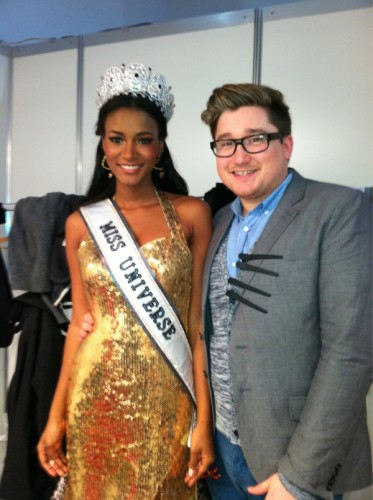 Miss Universe 2011 Leila Lopes Dusseldorf Germany Beauty International Trade Show