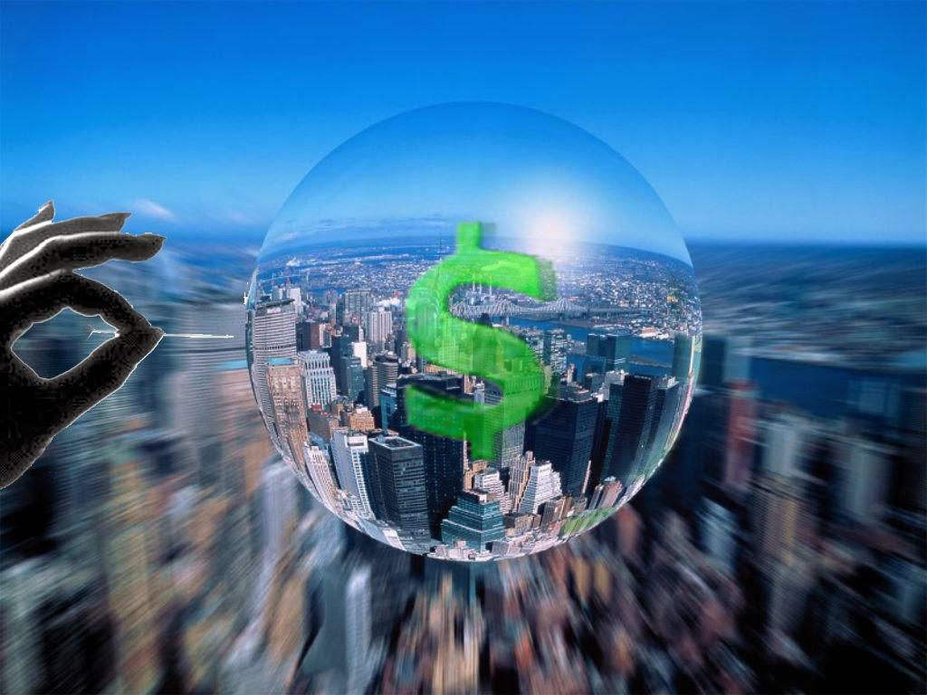 explosión de la burbuja financiera