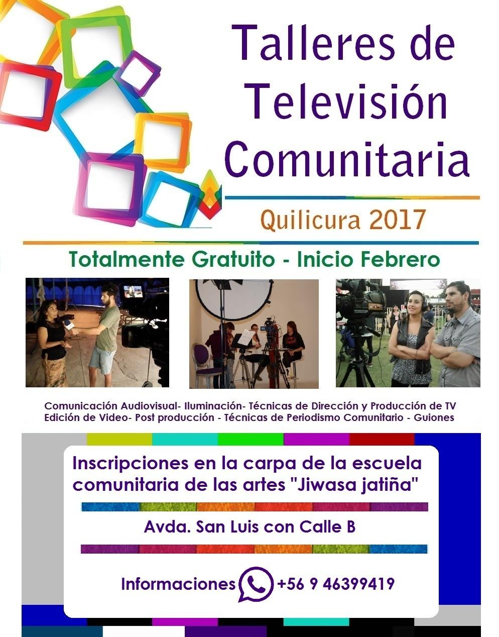 TALLERES DE TELEVISION COMUNITARIA 2017