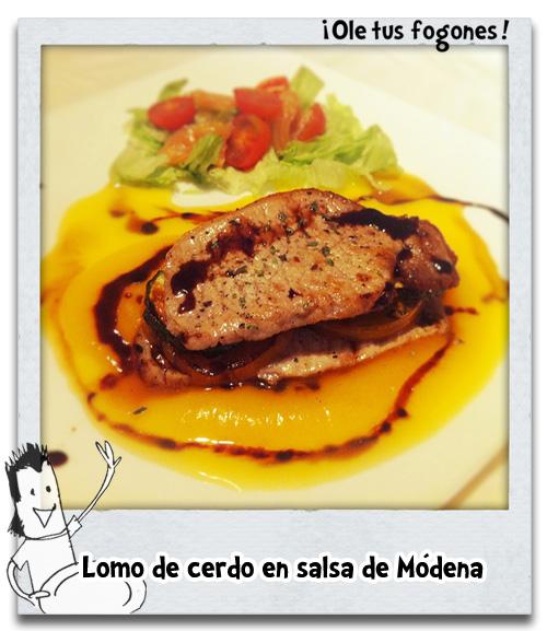 Lomo de cerdo con salsa de Módena