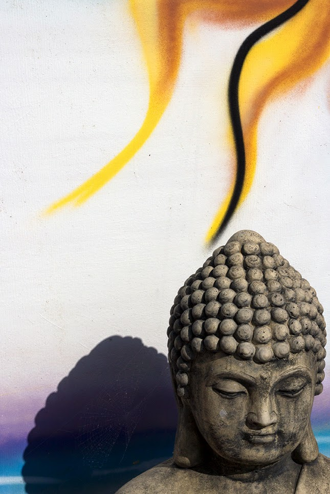Buddha with flame