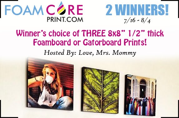 FoamCore Print.com Giveaway
