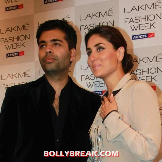 Kareena Kapoor with karan johar - Kareena Kapoor Lakme Fashion Week 2012 Unseen Pics