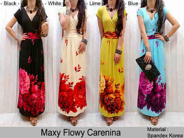 Maxi Dress Mawar Kode M-8071LP