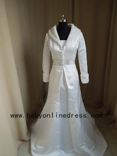 imitacion abrigo de novia estrecho entallado