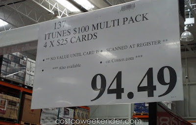 Deal for the iTunes $100 Multi Pack at Costco