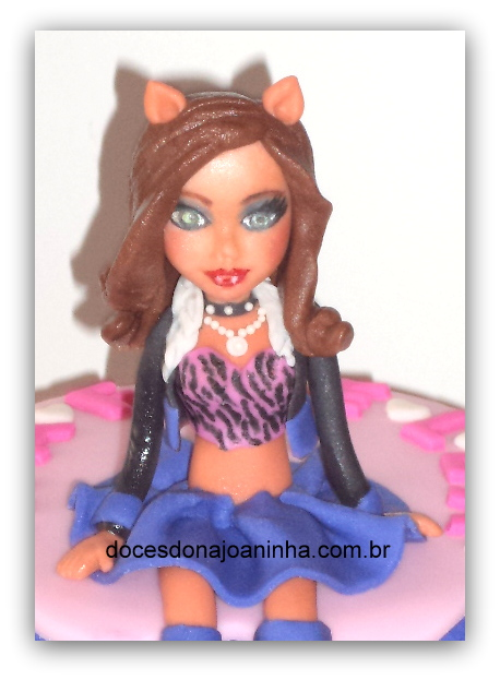 Monster High Clawdeen Wolf boneca de açúcar para topos de bolos e minibolos