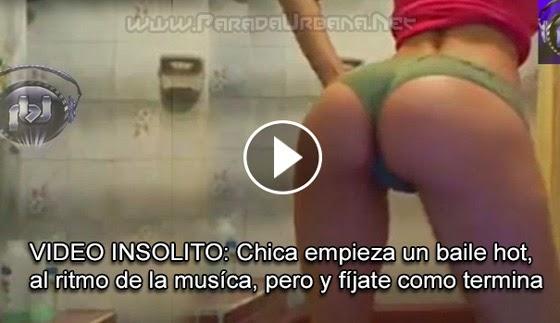 VIDEO INSOLITO - Chica tímida, se decide hacer un baile hot, pero fíjate de que manera termina ella.