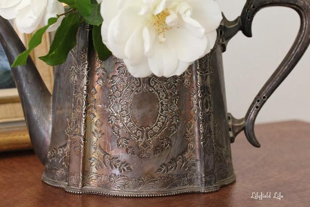 vintage silver tea pot homewares