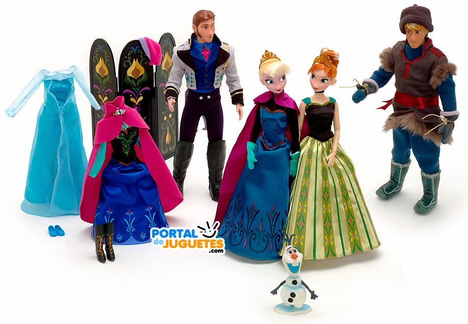 set personajes elsa anna kristoff hans olaf accesorios frozen disney store