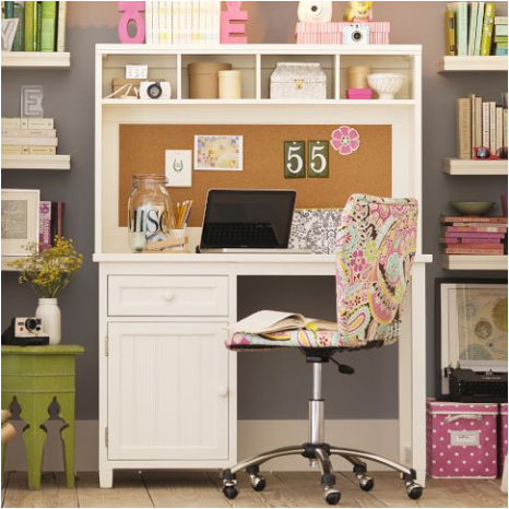 Teen girl study spaces room design ideas - Amazing teenage girl desks ...