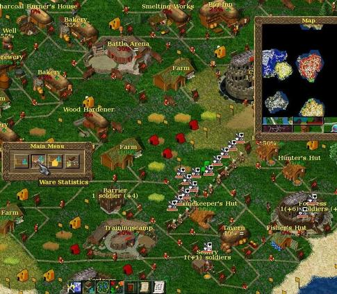 Game Strategi Perang Widelands Build 18