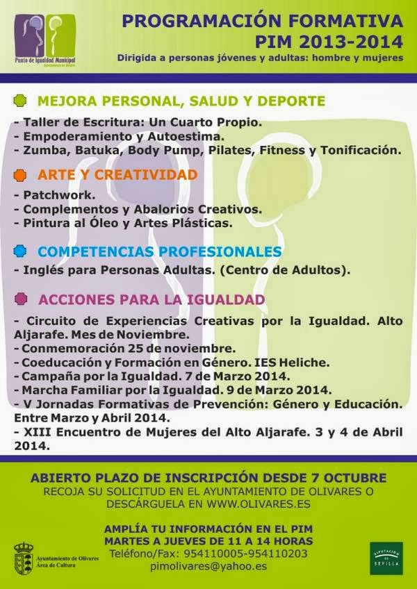 PROGRAMACIÓN FORMATIVA PIM. 2013-2014