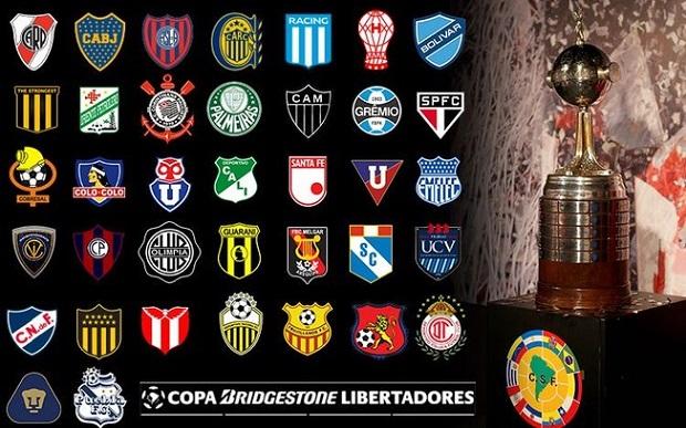 Libertadores e seus times participantes