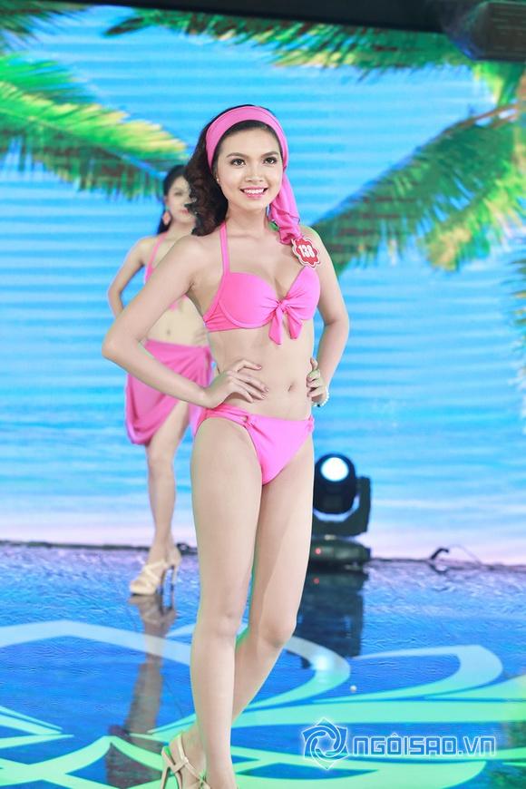 Ảnh gái xinh Hoa hậu miền bắc 2014 với bikini 16
