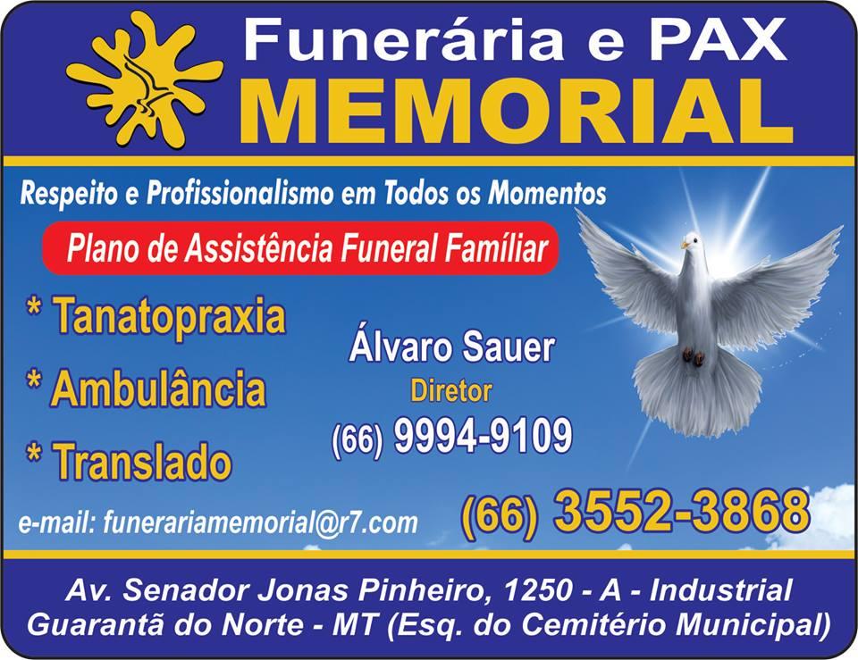 FUNERÁRIA E PAX MEMORIAL