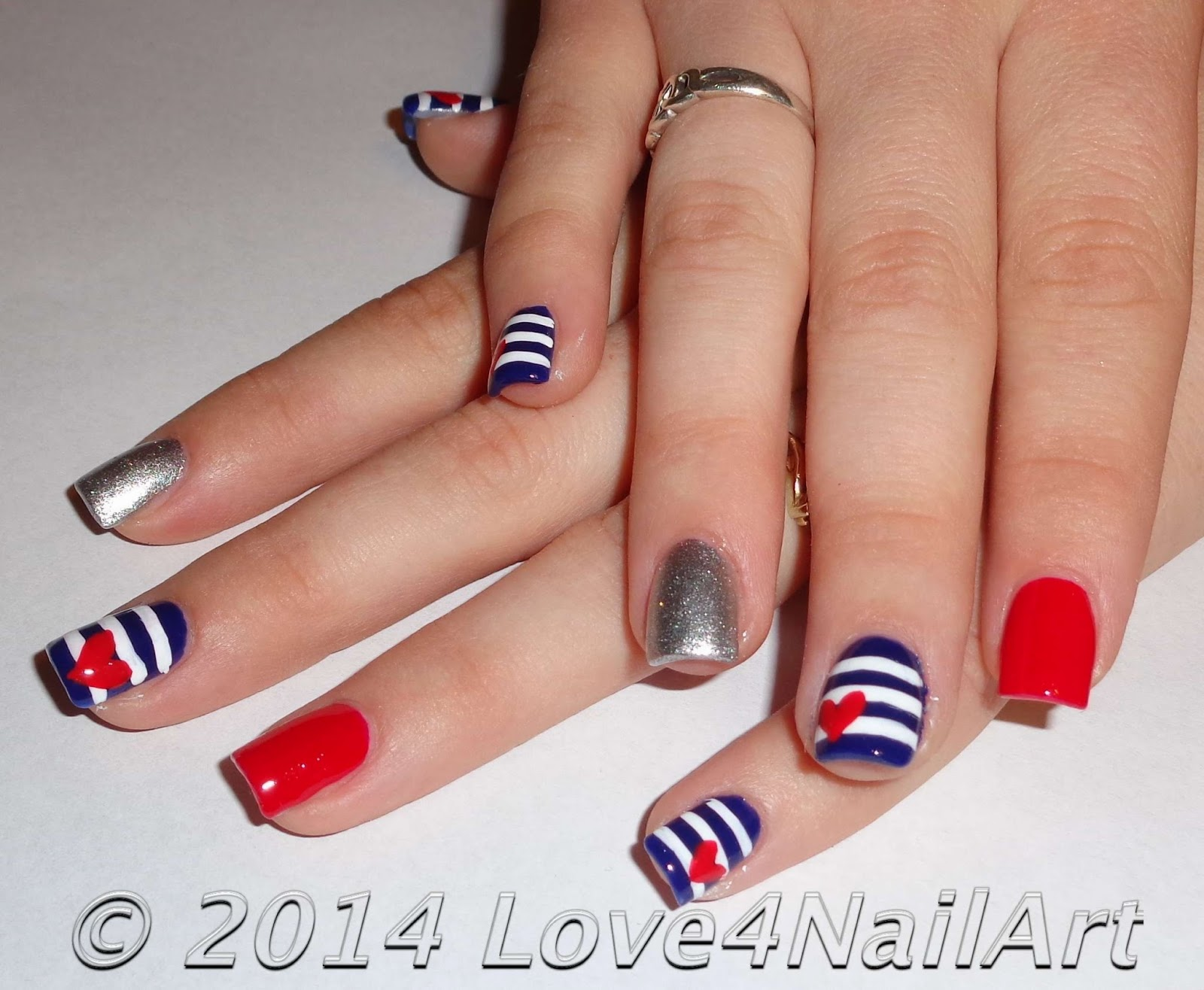 Love4nailart Patriotic Nails With A Girly Twist Memorial Day Nails