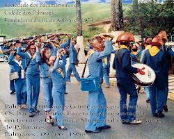 Bacamarteiros de Palmares festejando os 109 anos da cidade no ano de 1988.