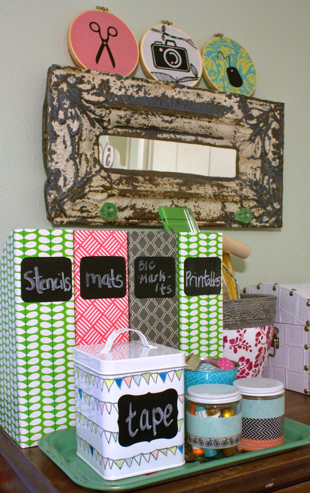 52 mantels craft room storage tutorial using bic mark it for Storage solutions for craft rooms