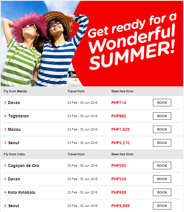 Air Asia: Get ready for a Wonderful SUMMER 2015!