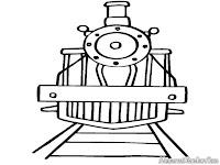 Gambar Kereta Api Untuk Diwarnai