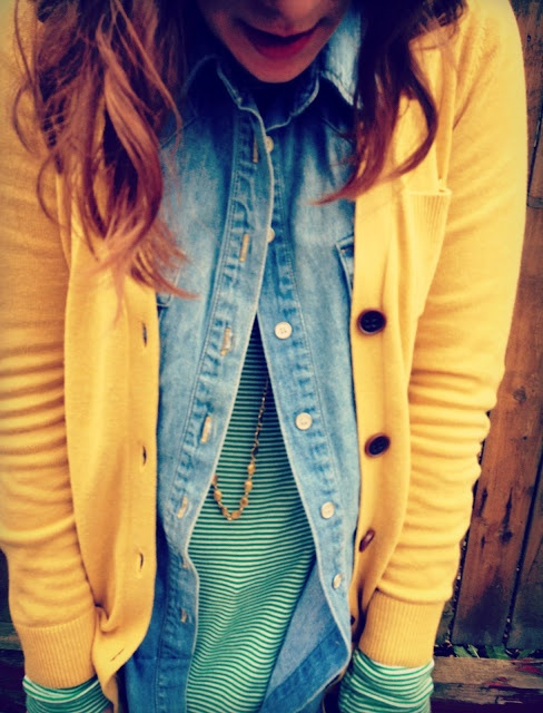Yellow jacket, jean shirt and cotton shirt for winters