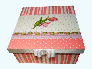 Porta jóias rosa vintage