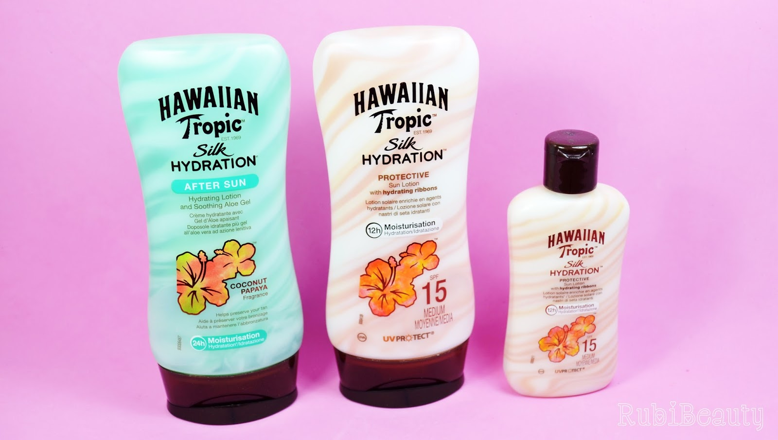 rubibeauty review hawaiian tropic silk hydration protector aftersun trnd