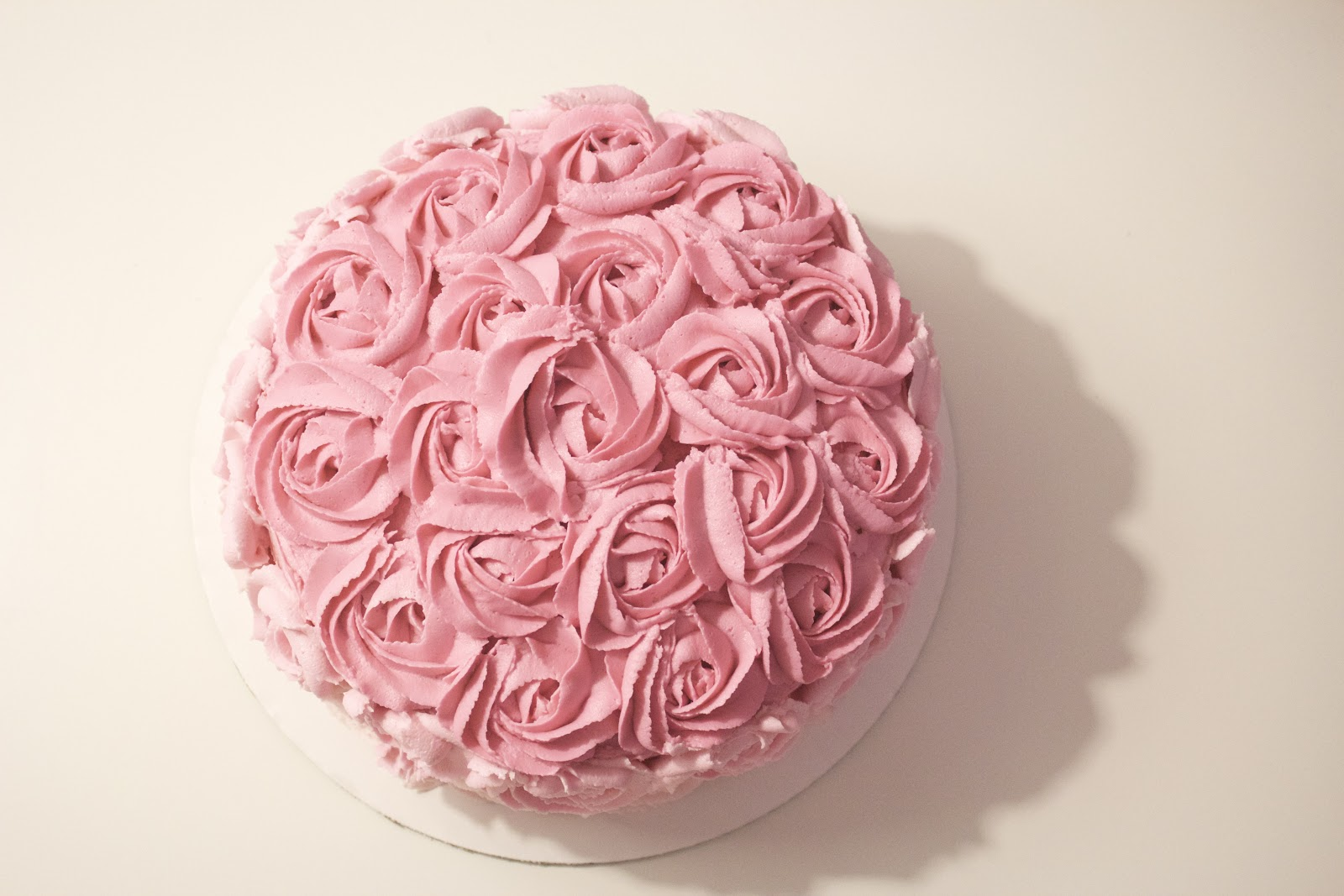Pink Rosette Cake Images : Pink Ombre Rosette Cake good. a boutique bakery