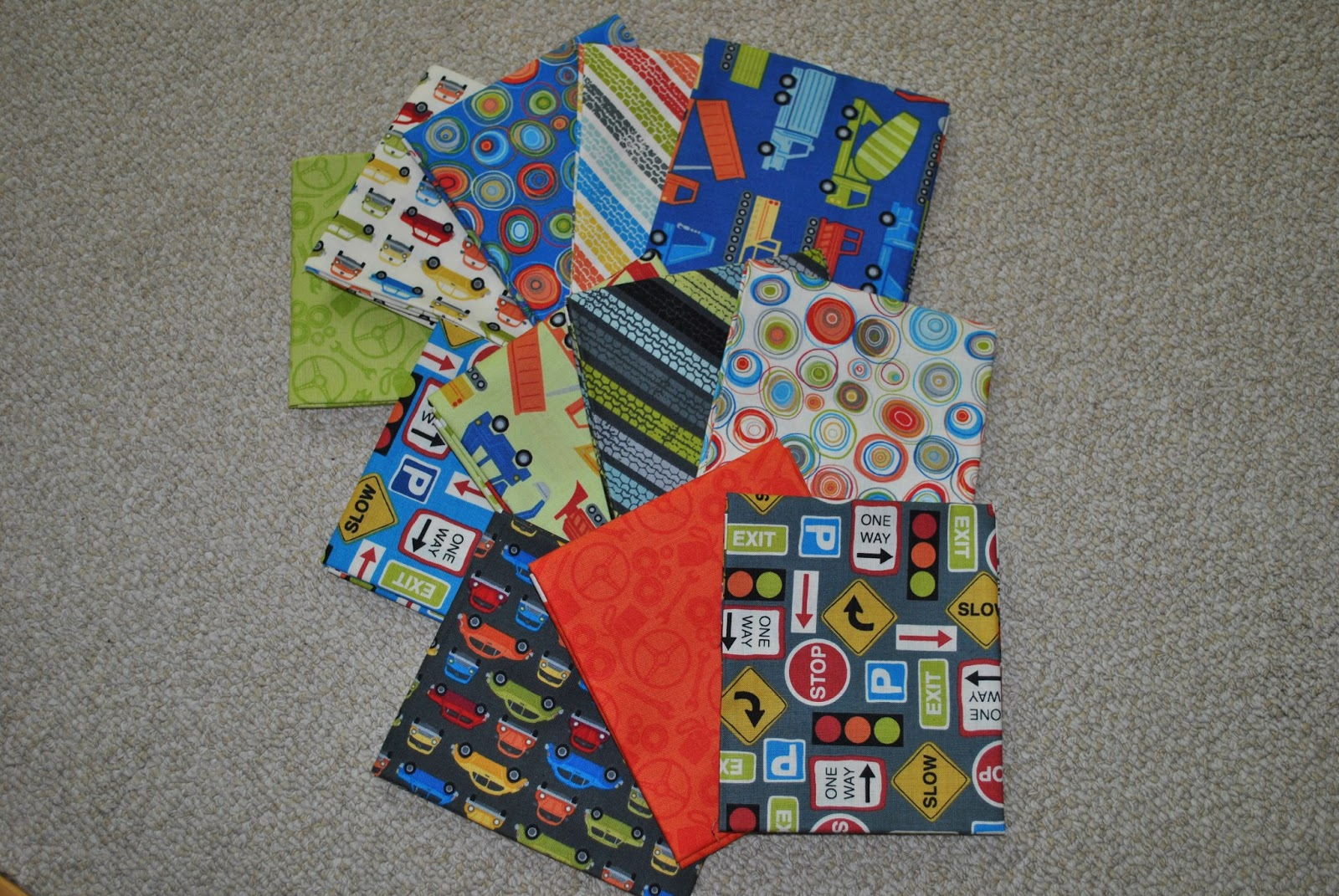Sweet jane 39 s quilting auto fabric baby boy quilt for Quilt material for boys